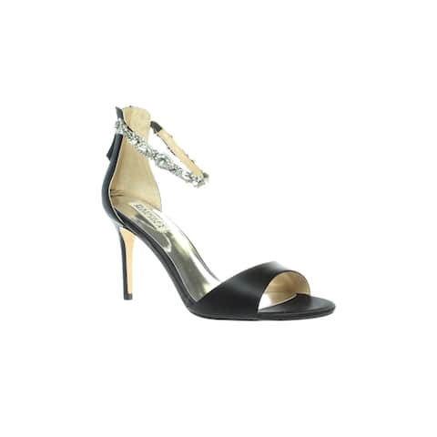 Badgley Mischka Womens Sindy Black Ankle Strap Heels Size 10
