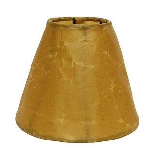 Link to Cloth & Wire Slant Crinkle Paper Empire Chandelier Lampshade with Flame Clip, Brown (Set of 6) Similar Items in Lamp Shades