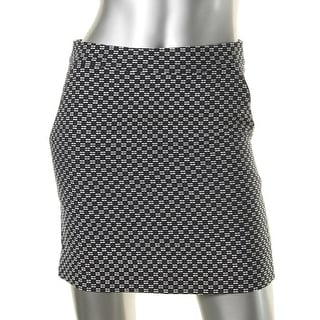 Suncoo Womens Mini Skirt Textured Printed