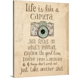 Katie Doucette Premium Thick-Wrap Canvas entitled Life is like a camera