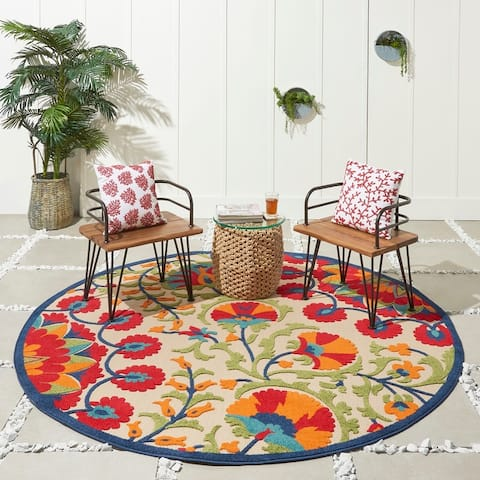 Nourison Aloha Indoor/Outdoor Botanical Rug