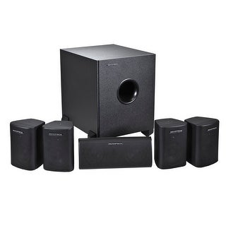 Monoprice5.1 Channel Home Theater Satellite Speakers & Subwoofer - Black