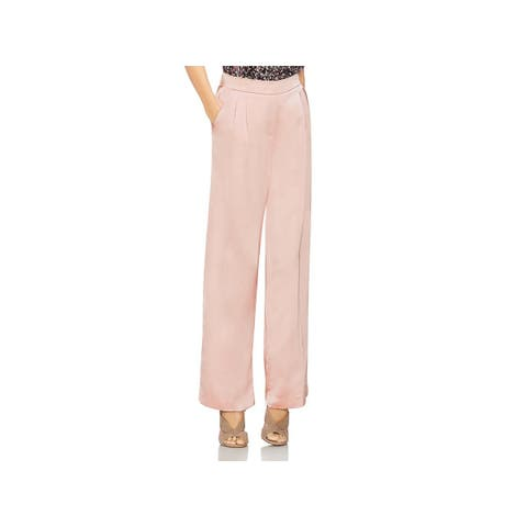 Vince Camuto Womens Wide Leg Pants Satin Pleated