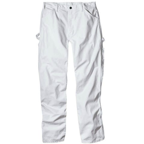 """Dickies 1953WH3434 Men's Relaxed Fit Painter's Pants, 34"""" x 34"""", White"""