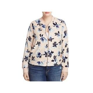 Junarose Womens Plus Lakka Bomber Jacket Floral Zip Front (2 options available)