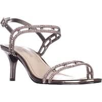 Caparros Happy Ankle Strap Dress Sandals, Mushroom Metallic