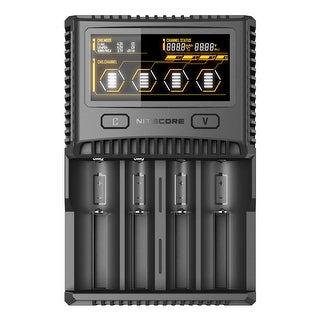 NITECORE SC4 Superb Charger 4-slot Battery Charger - Black