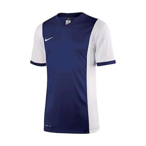 Nike Boys Park Derby Jersey T-Shirt Royal/White Size Youth - Blue