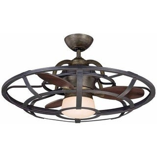 """Savoy House 26-9536-FD Alsace 26"""" Span 3 Blade Indoor Ceiling Fan with Remote, L"""