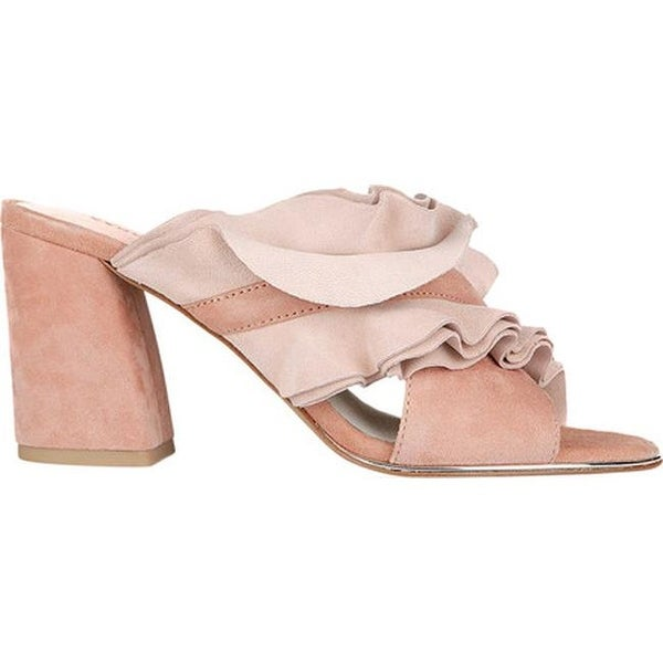 8b047a90e78 Shop Kenneth Cole New York Women s Laken Chunky Heel Slide Sandal Blush  Suede - On Sale - Free Shipping Today - Overstock - 19473684