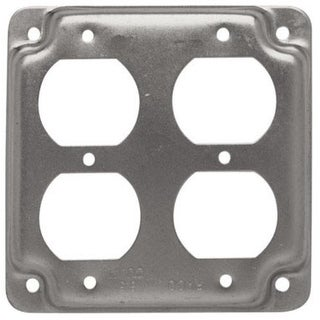 "Raco 907C Square Steel Electrical Box Cover, 4"" , 7.3 Cu. In."