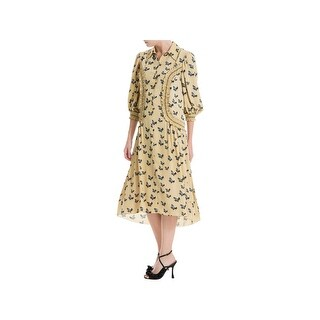 Max Studio London Womens Special Occasion Dress Printed Knee-Length