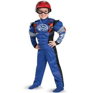 Disguise Race Car Driver Muscle Toddler Costume - Blue - large (4-6)