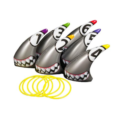 """Set of 6 Silver Ring Toss Swimming Pool and Backyard Game 11"""""""