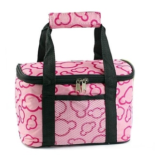 Waterproof Lunch Bag Thick large size 24*13*14.5cm Pink