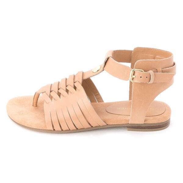 Marc Fisher Womens LEA Leather Split Toe Casual Gladiator Sandals
