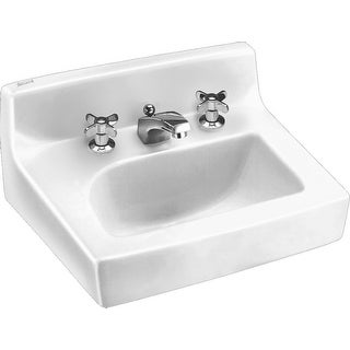"American Standard 0373.027  Penlyn 18"" Wall Mounted Porcelain Bathroom Sink - White"