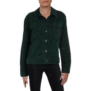 Free People Womens Nelson Cropped Jacket Corduroy Lightweight