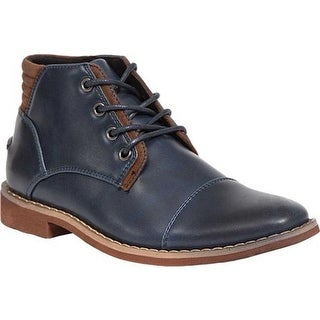 Deer Stags Boys' Hamlin Ankle Boot Navy Simulated Leather