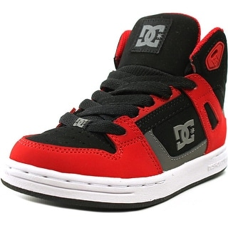 DC Shoes Rebound High Youth  Round Toe Suede Red Skate Shoe