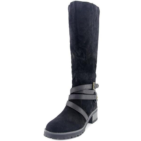 Fergalicious Rita Women  Round Toe Synthetic Black Knee High Boot