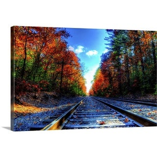"""Railroad"" Canvas Wall Art"
