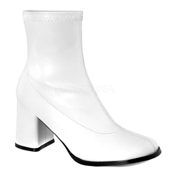 b54147c4fa6 Funtasma Women's Gogo 150 Ankle Boot White Stretch Polyurethane