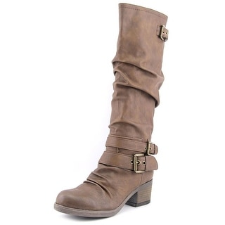 Carlos by Carlos Santana Claudia Women Round Toe Synthetic Brown Knee High Boot
