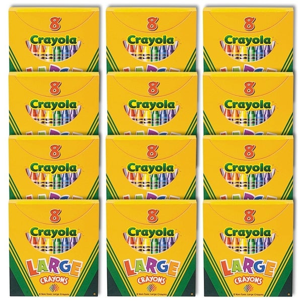 Large 8-Count Crayola Crayon Classpack - 12 Boxes