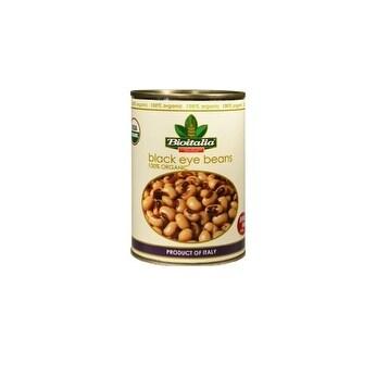 Bioitalia Beans - Black Eyed Peas - Case of 12 - 14 oz.