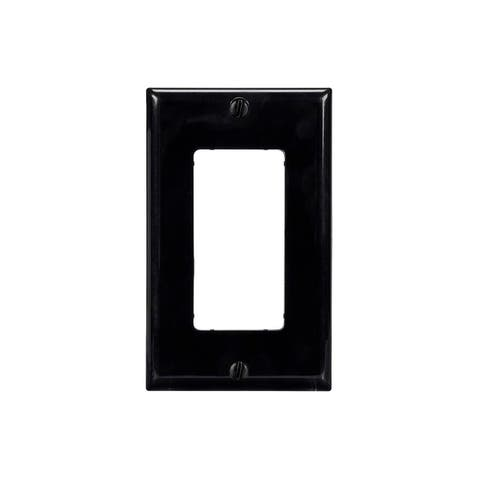Monoprice 1-Gang Dcor Wall Plate - Black for Home ,Office, Personal Install
