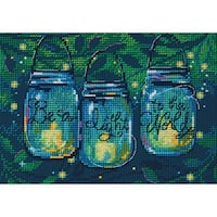 """Be A Light Mini Counted Cross Stitch Kit-7""""X5"""" 14 Count"""