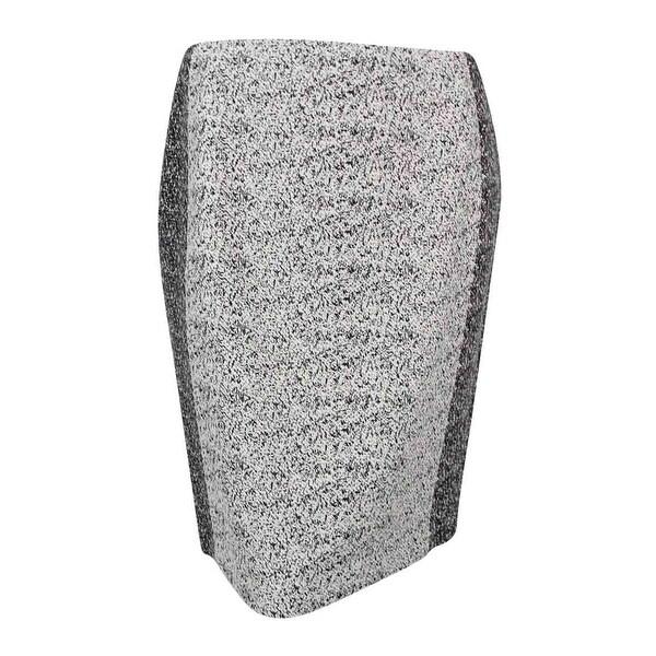 c73ea42fecbef Calvin Klein Women  x27 s Plus Size Colorblocked Pencil Skirt - Black Cream