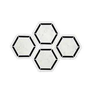 "Daltile M6HEXMSL Marble Collection - 6"" x 6"" Hexagon Mosaic Multi-Surface Tile - - carrara white - N/A"