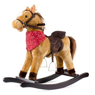 JOON Cowboy Rocking Horse Pony, Tan