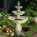Sunnydaze Classic Tulip 3 Tier Fountain, 46 Inch Tall - Thumbnail 0