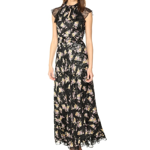f91d5ab955b Shop Tahari By ASL Black Womens Size 14 Floral-Printed Maxi Dress - On Sale  - Free Shipping Today - Overstock - 27369037