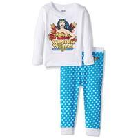 Intimo Big Girls' Wonder Women Retro 2 Piece Pajama Set