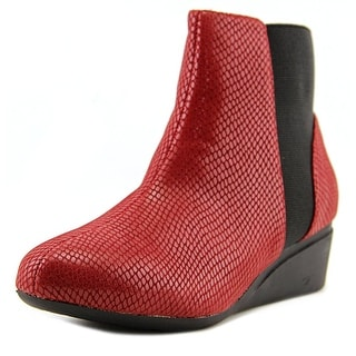 J. Renee Kareenatoo Women US 13 W Burgundy Ankle Boot