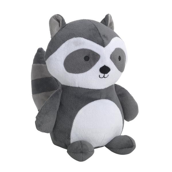 Shop Bedtime Originals Little Rascals Gray White Plush Raccoon