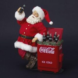 "11"" Coca-Cola® Santa Claus with Cooler Table Top Christmas Figure"