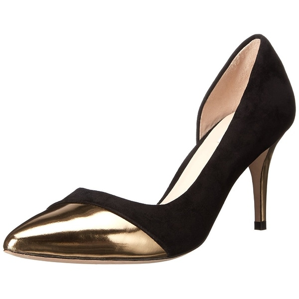 Cole Haan Womens HIGHLINE CAP TOE Suede Pointed Toe D-orsay Pumps
