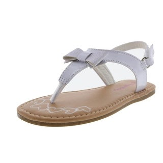 Rugged Bear Bow Patent Slingback Sandals