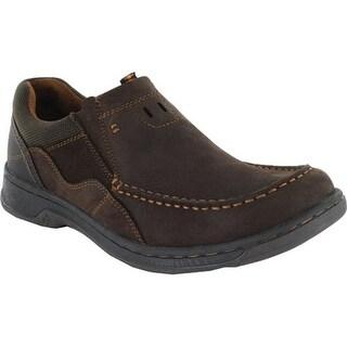 Nunn Bush Men's Brookston Moc Toe Slip On Brown Leather/Suede