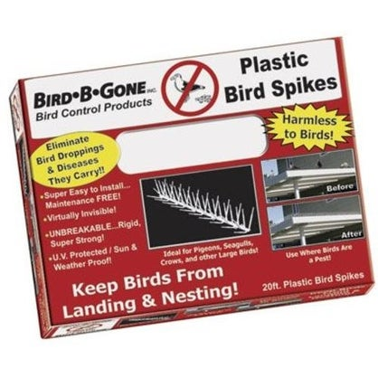 "Bird B Gone MM2000-5/20 Bird Spike, 5"", Clear"