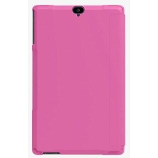 Verizon Folio Case & Tempered Glass Bundle for Ellipsis 8 HD - Pink
