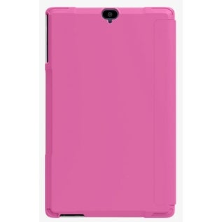 Verizon Folio Case & Tempered Glass Bundle for Ellipsis 8 HD - Pink