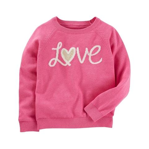 OshKosh B'gosh Big Girls' Cozy Love Sweater, 14 Kids