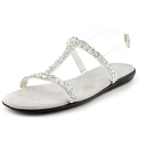 Aerosoles Good Chlue Women Open-Toe Synthetic Silver Slingback Sandal
