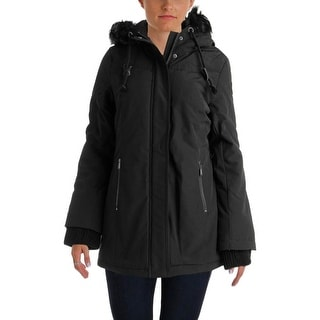 DKNY Womens Coat Water Resistant Zip Front